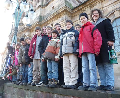 Holten das Friedenslicht in Fulda ab: Vertreter der Evangelischen Pfadfinder Vogelsberg